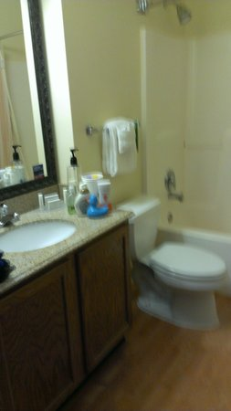 TownePlace Suites St. Louis Fenton: Bathroom with sons rubber ducky