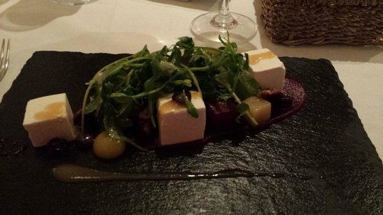 Dax Restaurant: Beetroot and feta cheese starter