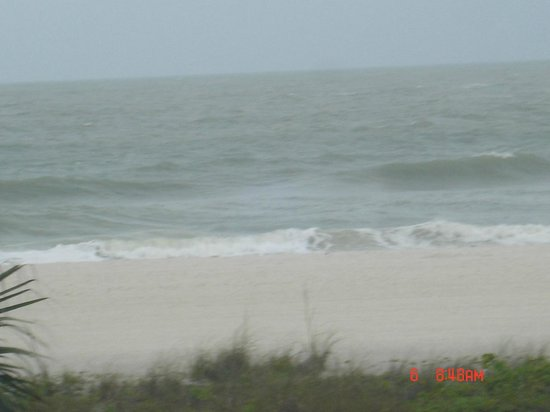South Marco Beach : Big waves during Tropical Storm Andrea