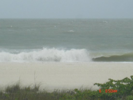 South Marco Beach : Waves during Tropical Storm Andrea