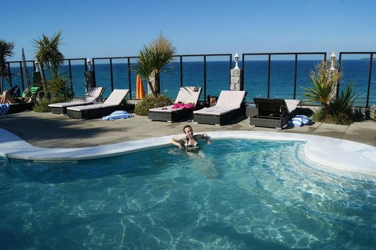 Carbis Bay Hotel & Estate: this was me in the pool