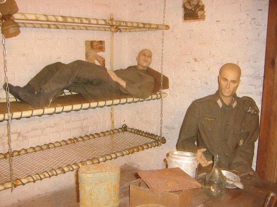 Le Kahl Burg : un peu de repos pour les gardes (lits superposés)