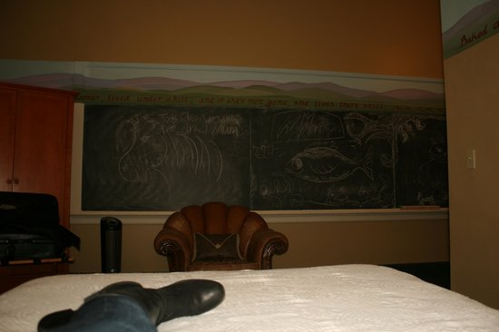 McMenamins Kennedy School: Chalkboard view from the bed in Mrs Palmer's room