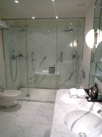 Le Richemond, Geneva Dorchester Collection : Huge double shower
