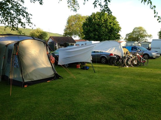 Porlock Caravan and Camping Park : Our mountain bike haven