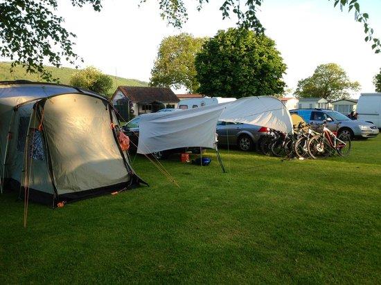 Porlock Caravan Park: Our mountain bike haven