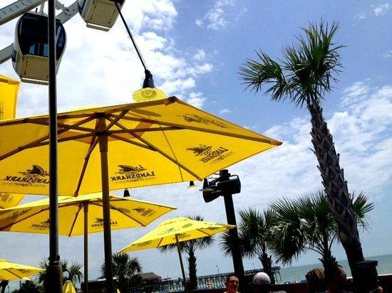 LandShark Bar & Grill Myrtle Beach : View from the deck!