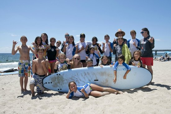Island Camps Group Shot Of Surf Camp In Deerfield Beach Fl