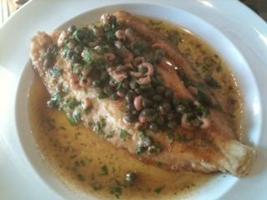 The Galley Restaurant: Whole Dover Sole a la Meuniere, Brown Shrimp and Caper Butter