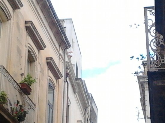 Nonna Jole: a view from the street to the terace on the roof