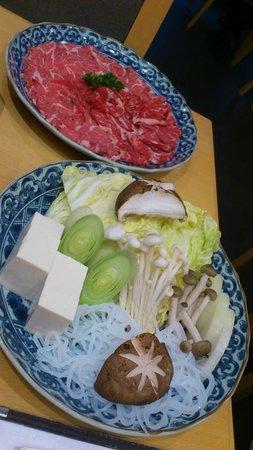 Kiku : Sliced Beef and Vegetable selection for Shabu-Shabu