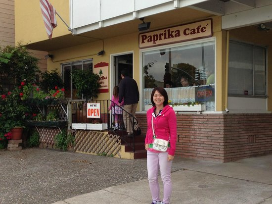 Paprika Cafe : The restaurant front - looks like family-owned