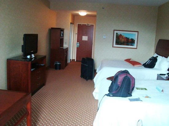 Hilton Garden Inn Ottawa Airport: Inside the room - Window to door