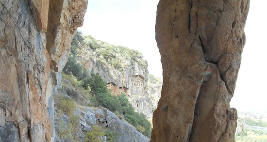 Aydos Club: A view from inside the rock tombs (I wasn't meant to be up there so don't tell anyone!)