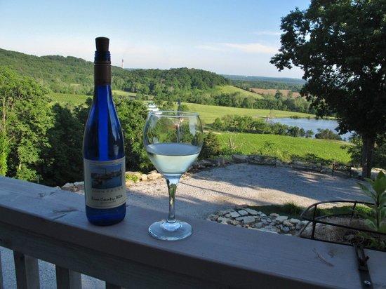 Stoneridge Farms Bed and Breakfast: Wine on the balcony