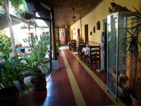 Hotel y Restaurante Vista Volcanes: Patio walk