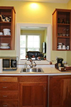 Lodgings at Pioneer Lane: Gift Box Suite - Kitchenette