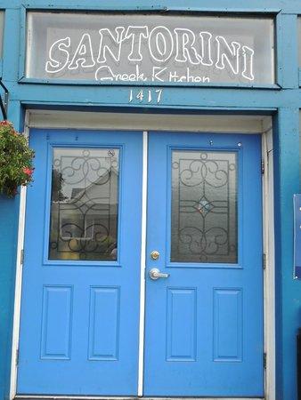 Santorini Greek Kitchen: Front Door