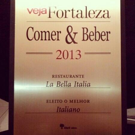 La Bella Italia : Eleito melhor Restaurante Italiano