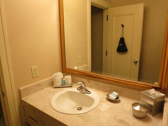 The Hotel Majestic St. Louis: Hairdryer hanging on door