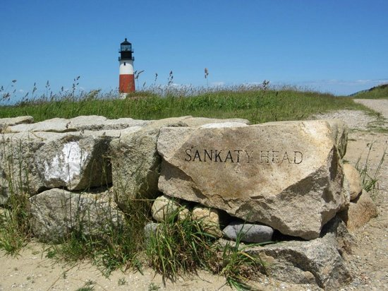 Sankaty Head Lighthouse: The entrance to the grounds