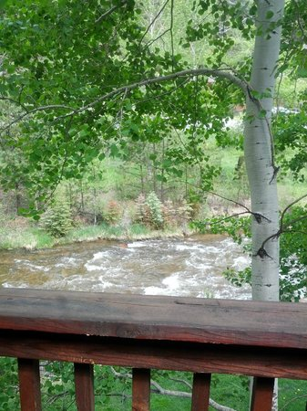 View from our 2nd-floor balcony at Boulder Brook on Fall River