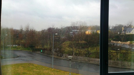 Park Hotel: View from the room... shame about the weather!