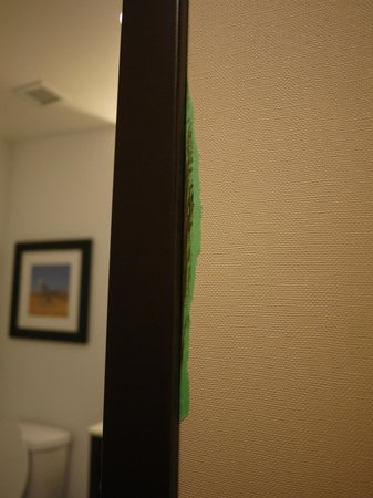 Four Points by Sheraton Edmonton Gateway: Someone forgot to clean up after painting