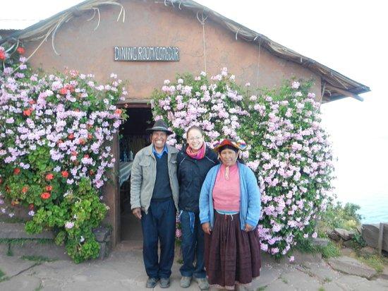 Hospedaje Samary: Félix, sa femme et moi!