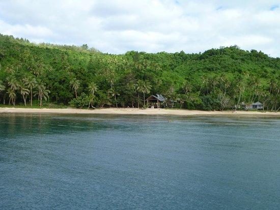 Paradise beach from boat