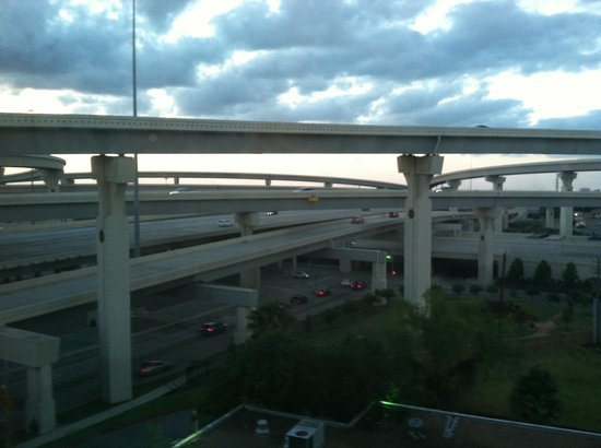 Four Points by Sheraton Houston Citycentre: View from my room of intersecting highways