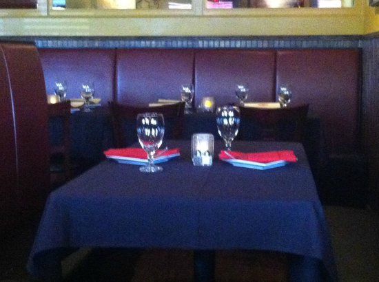 Whitfield's: descent table setting