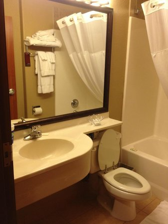 Magnuson Hotel : Bathroom sink area