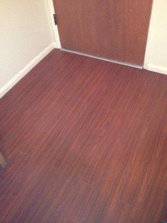 The Trees Motel: Cherry colored hardwood floors