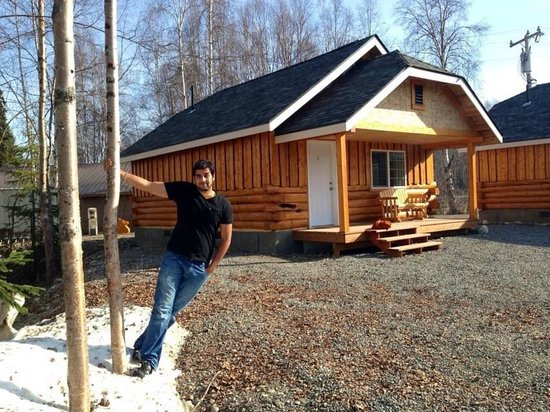 Denali Fireside Cabins & Suites : The beautiful log cabin
