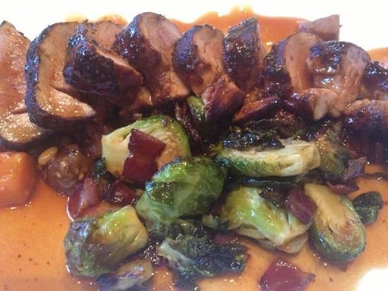 Terra Bistro: pork tenderloin with Brussel sprouts