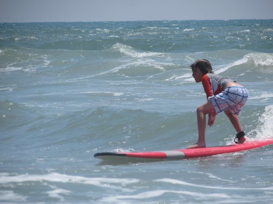 Tony Silvagni Surf School: Oh yeah - He's surfin'!