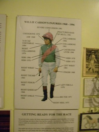 National Heritage Centre for Horseracing & Sporting Art: Willie Carson's injuries