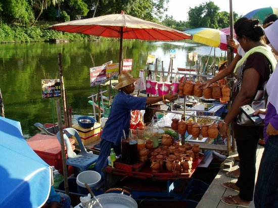 Drinking Water In The Vase Picture Of Hat Yai Floating Market Hat
