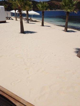 D Maris Bay: the beach near the catamaran and sportsarea