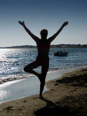 Serenity on the Lake Bed and Breakfast: Yoga On The Beach