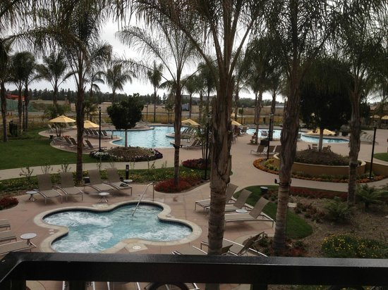 Hilton Grand Vacations Club at MarBrisa: The pool area, two large pools and 3 hot tubs.