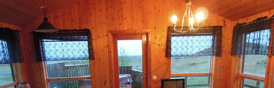 Hotel Fljotshlid: view from inside the cabin