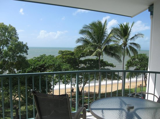 Beachfront Apartments on Trinity Beach: private balcony and view