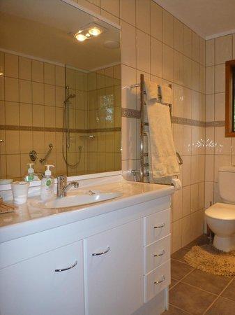 At The Tongariro Riverside B&B: Bathroom - Ensuite and walk in