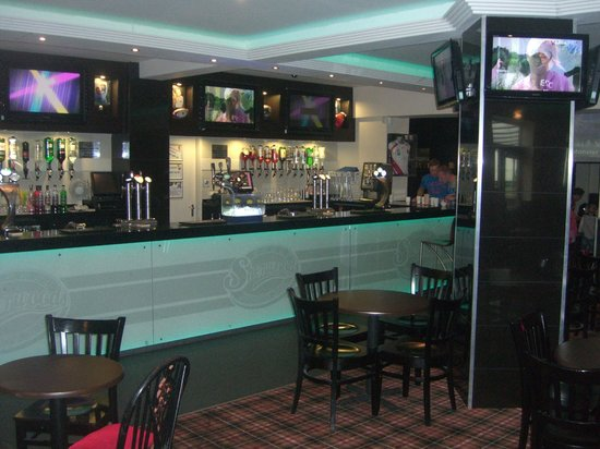 our o 39 neills irish bar houses a full size pool table and. Black Bedroom Furniture Sets. Home Design Ideas