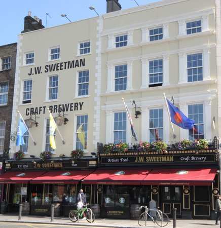 Photo of Irish Pub J W Sweetman Craft Brewery at 1 & 2 Burgh Quay, Dublin, Ireland