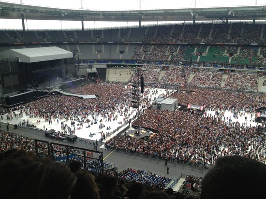 Stade de France : View from U2 seating.