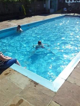 Outdoor pool at Watermouth Lodges