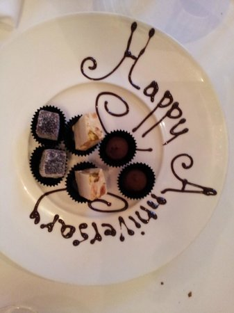 The Restaurant at Drakes: A special plate of petit fours for our anniversary